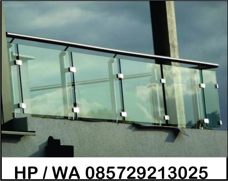Balkon Stainless kombinasi Kaca